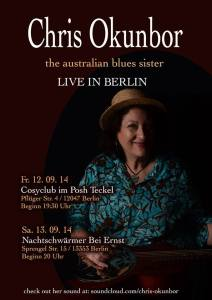 Chris in Berlin poster from her 2014 European Tour